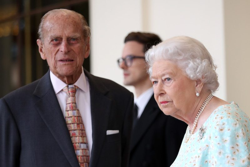 nce Philip, Duke of Edinburgh are seen during a State visit