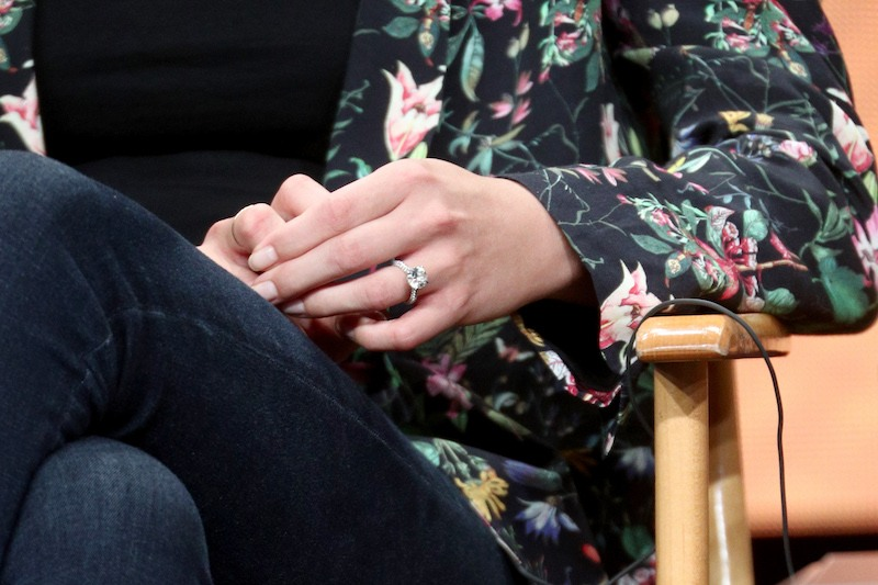 Actor Emily VanCamp, ring detail, of ''Everwood'- A 15th Anniversary Reunion'