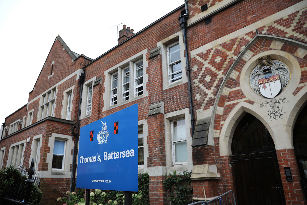 A general view of Thomas's Battersea school on September 4, 2017 in Battersea, England.