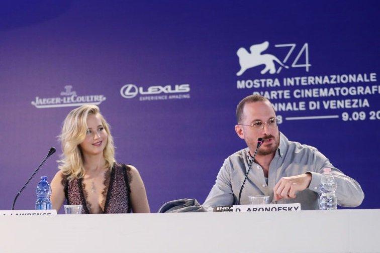 Jennifer Lawrence and Darren Aronofsky
