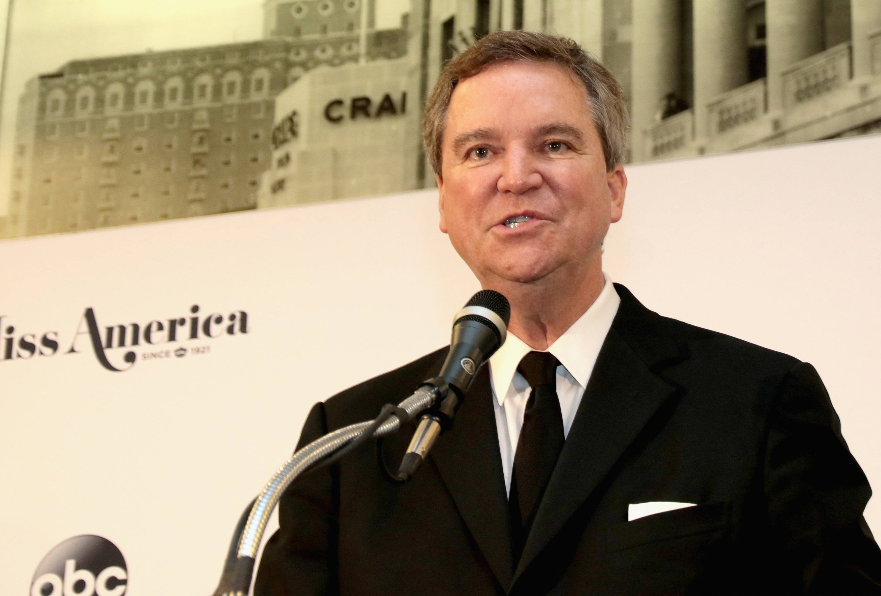 Executive Chairman Sam Haskell, III speaks during the 2018 Miss America Competition