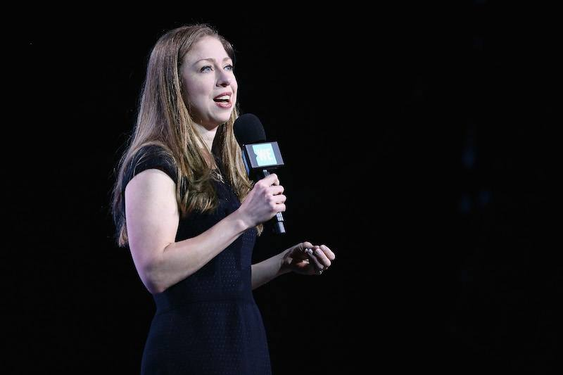 Chelsea Clinton speaks on stage at the WE Day UN