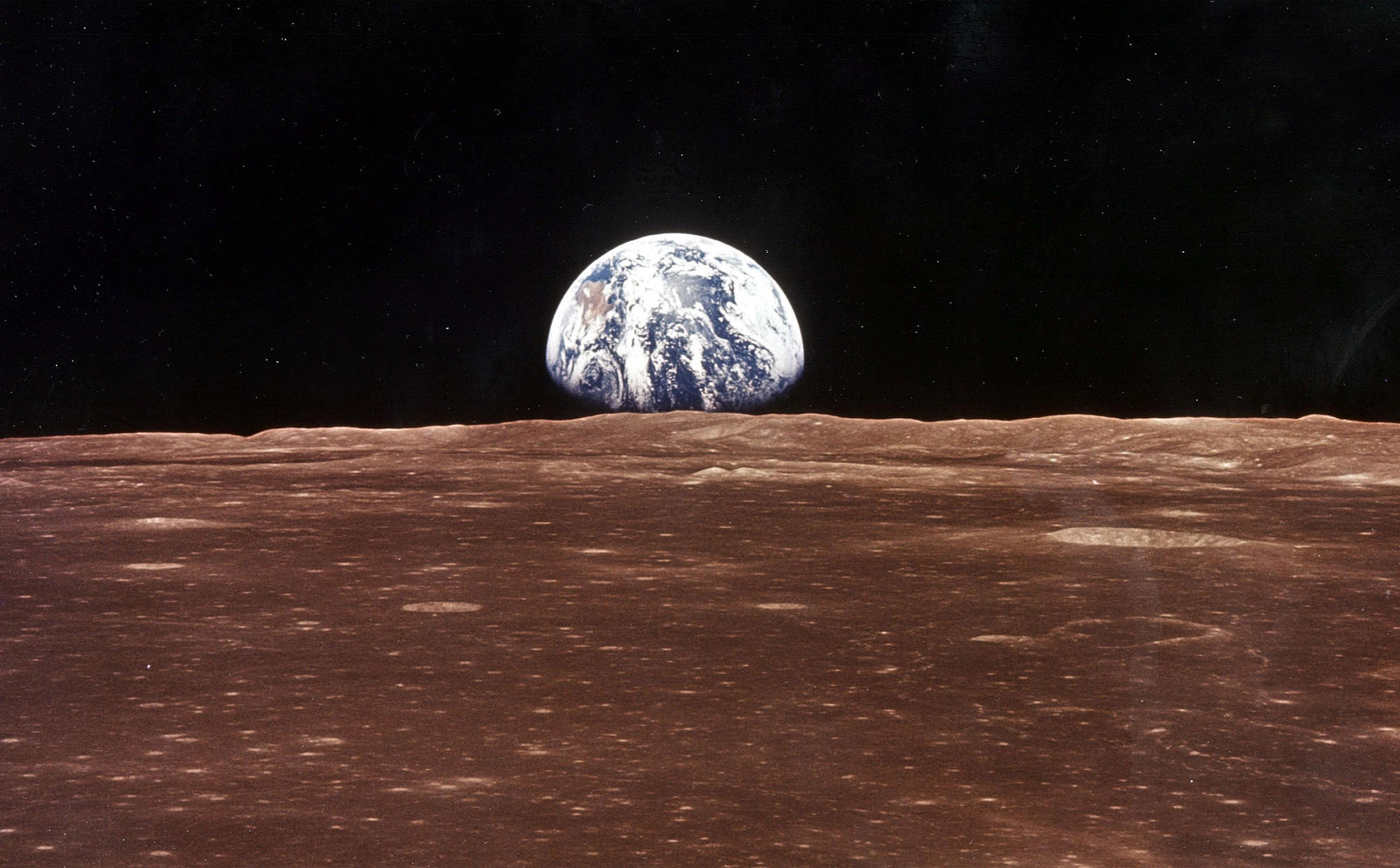 Earth as it is seen from the moon.