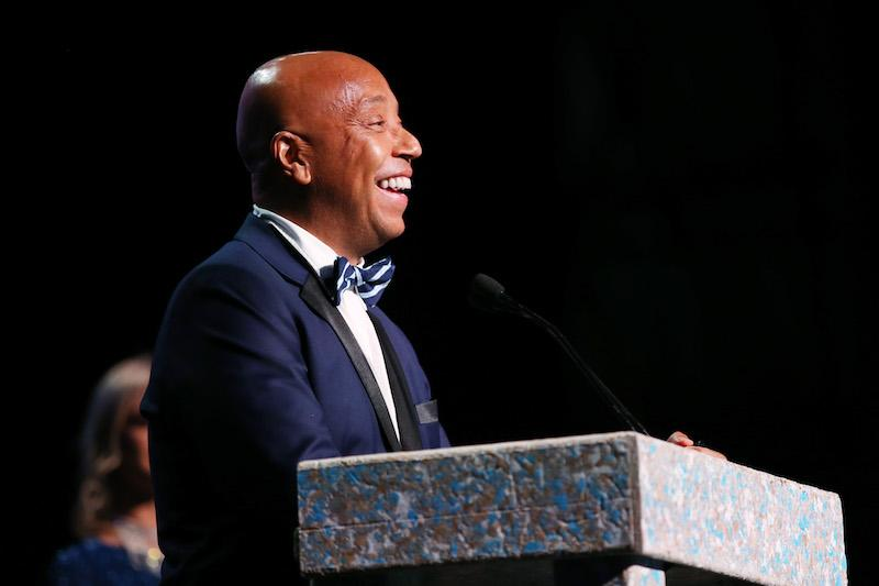 Russell Simmons speaks onstage at the Environmental Media Association's 27th Annual EMA Awards