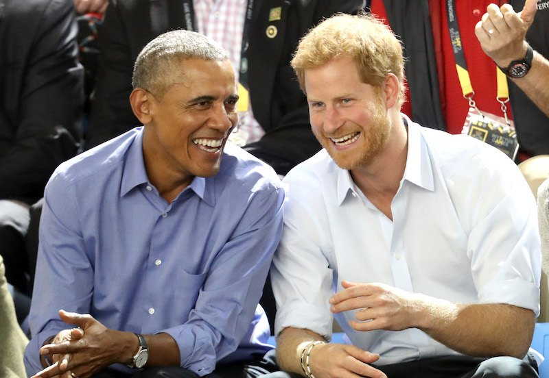 Former U.S. President Barack Obama and Prince Harry on day 7 of the Invictus Games 2017