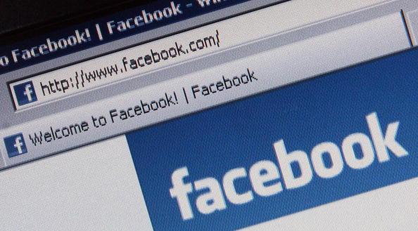 a facebook login screen URL bar