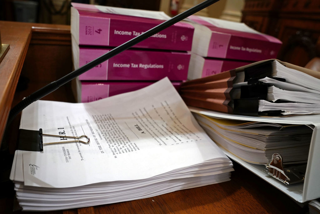 the tax bill in the ways and means committee office