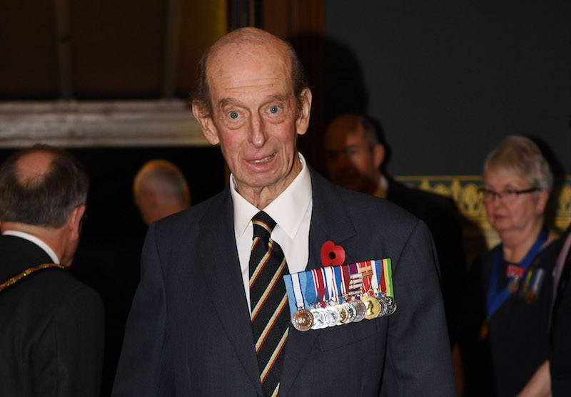ince Edward, Duke of Kent arrives at the annual Royal Festival of Remembrance to commemorate all those who have lost their lives in conflicts at the Royal Albert Hall on November 11, 2017 in London, England. (Photo by Stefan Rousseau - WPA Pool / Getty Images)