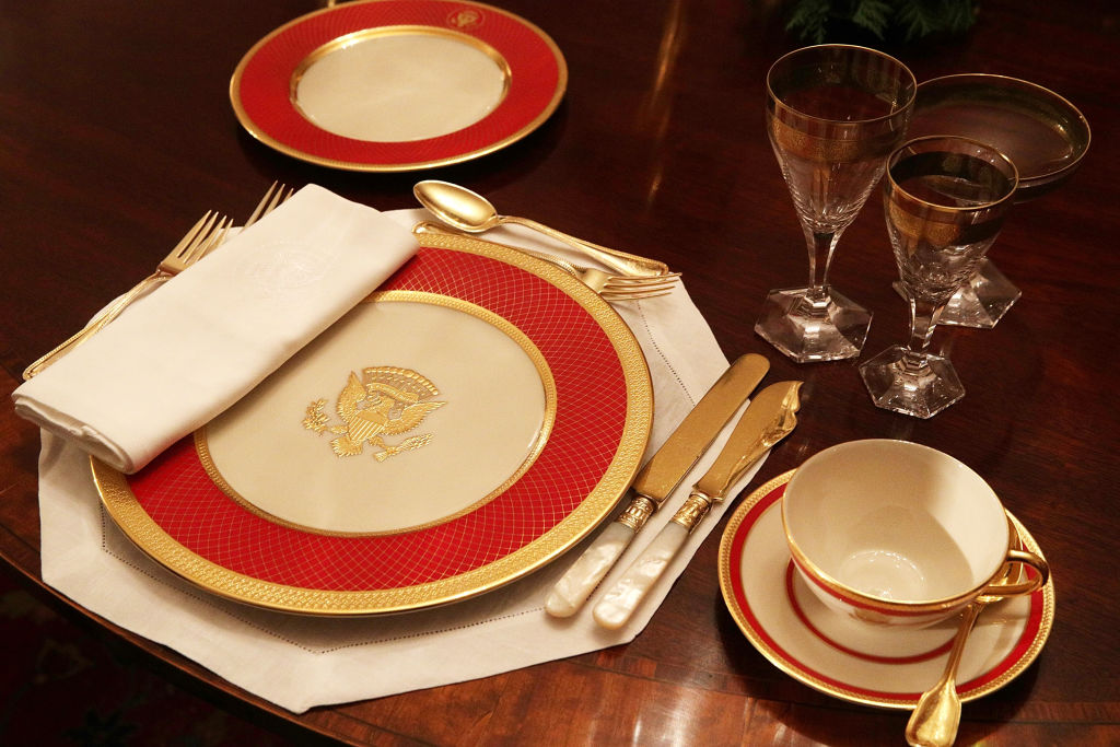 White House place setting