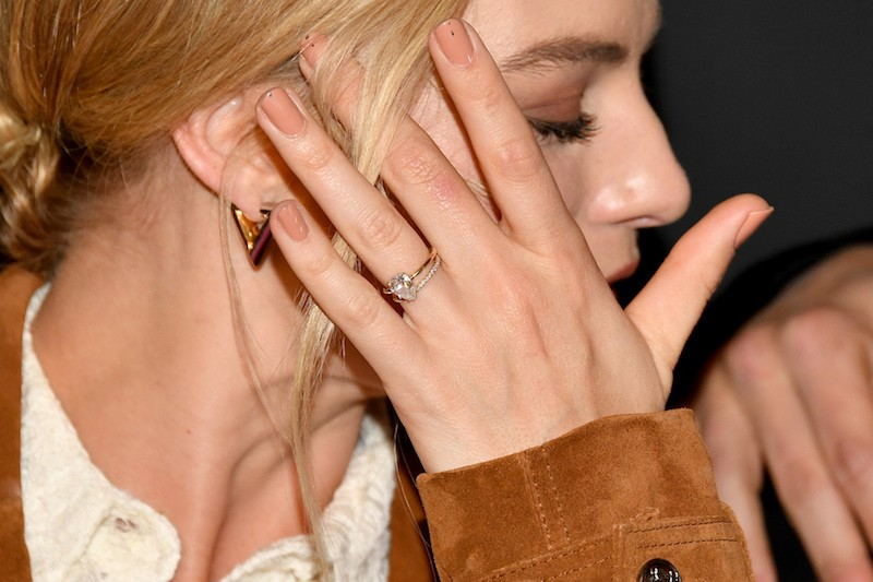 Margot Robbie, ring detail, attends the 'I, Tonya' New York Premiere at Village East Cinema on November 28,