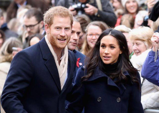 Prince Harry and Meghan Markle attends the Terrance Higgins Trust World AIDS Day charity fair