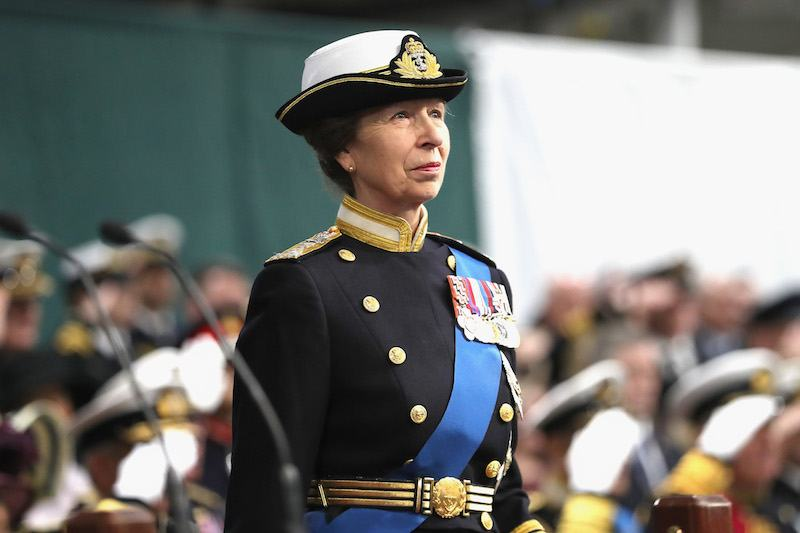 Her Royal Highness The Princess Royal attends the Commissioning Ceremony of HMS Queen Elizabet