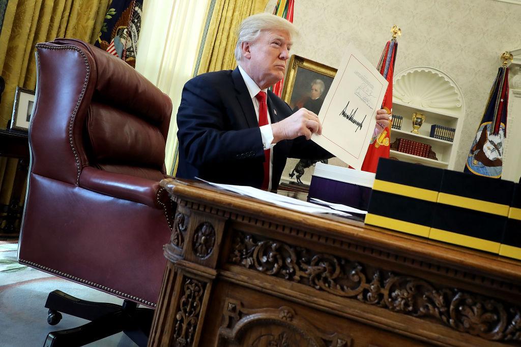 Trump signs tax reform bill