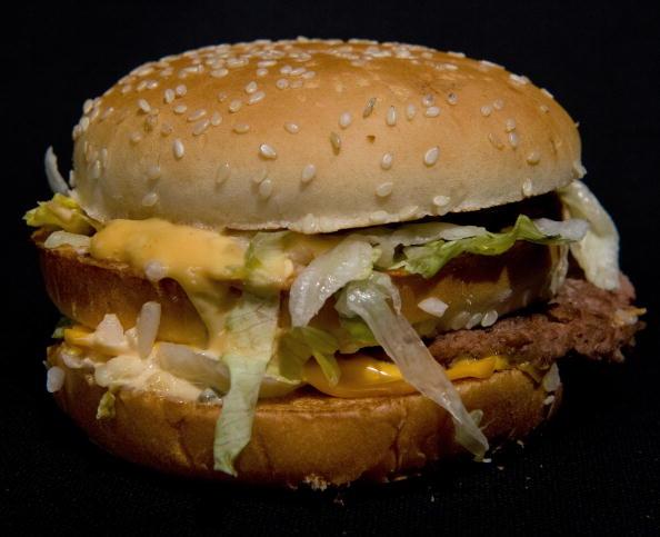 a big mac hamburger
