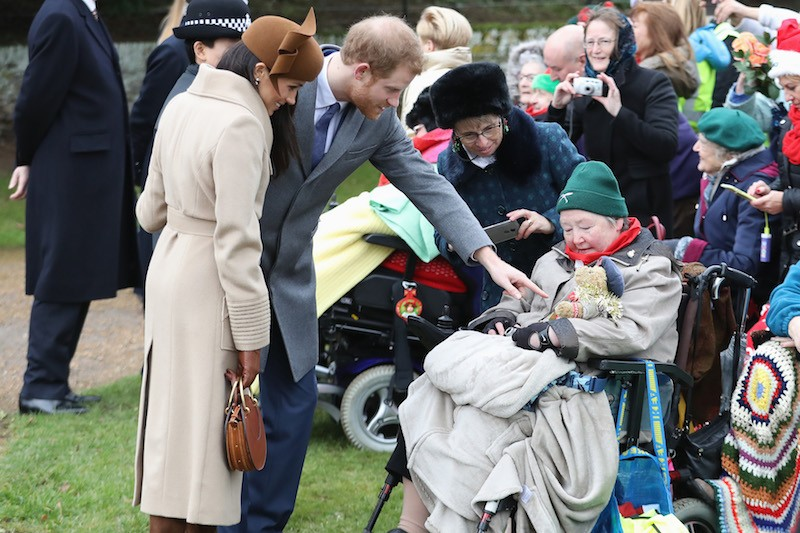Meghan Markle and Prince Harry attend Christmas Day Church service at Church of St Mary Magdalene