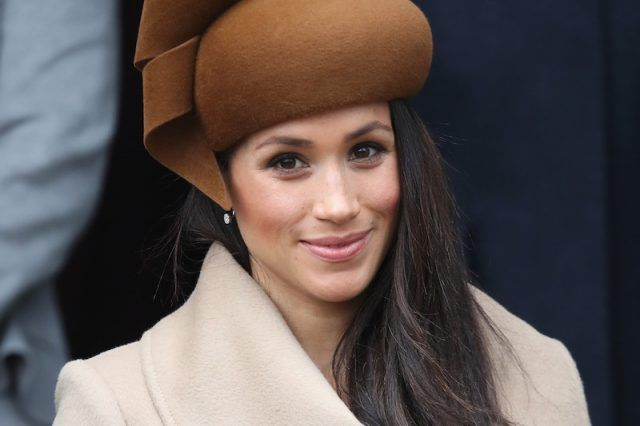 Meghan Markle smiling on Christmas Day.