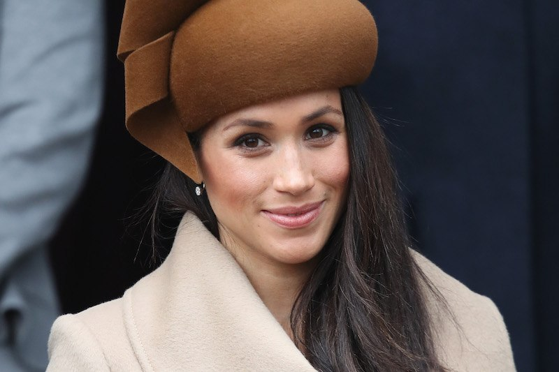 Meghan Markle attends Christmas Day Church service at Church of St Mary Magdalene on December 25, 2017