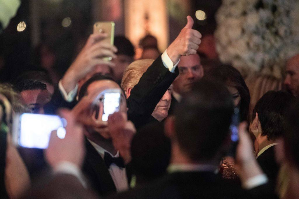 Donald Trump Mar-a-Lago New Year's Eve