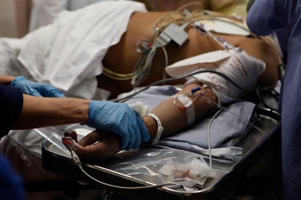 a man in an emergency room