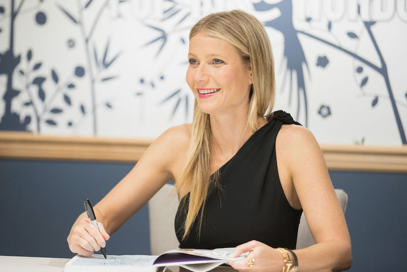 Gwyneth Paltrow signs copies of her book in Seattle.