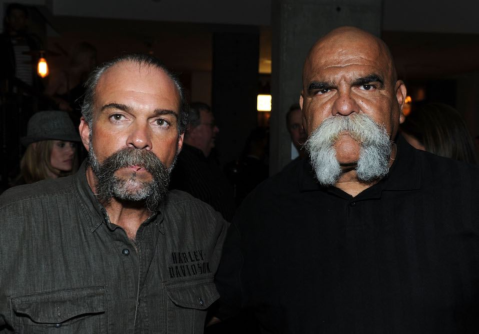 Machine Gun Preacher Sam Childers and Big Al Aceves, founder of The Mongols Motorcycle Club