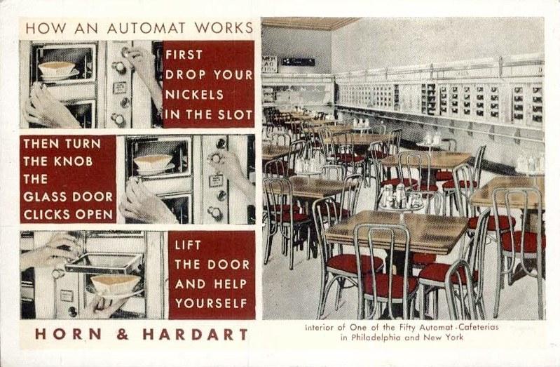 Horn-and-Hardart automat restaurant