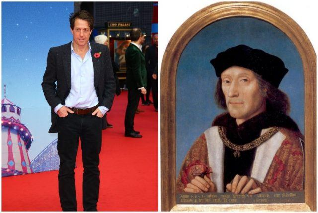 Hugh Grant and King Henry VII.