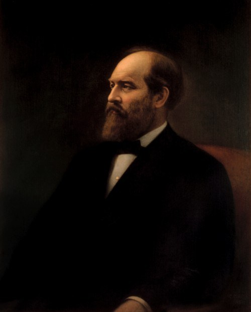 James Garfield's official portrait.