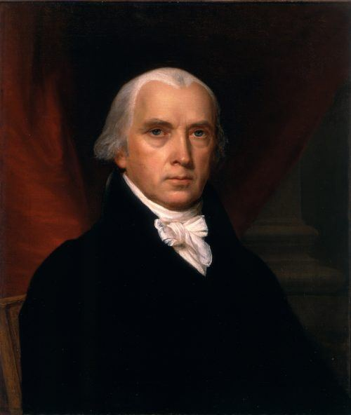 James Madison portrait.