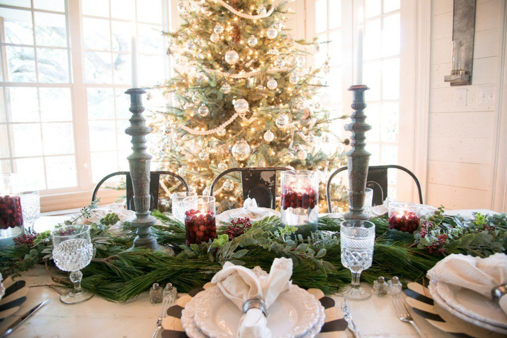 Joanna Gaines Christmas Dinner Party table setting