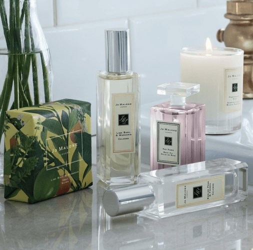 Joe Malone fragrances and candles.
