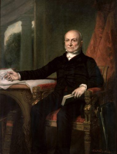 John Quincy Adams' portrait.