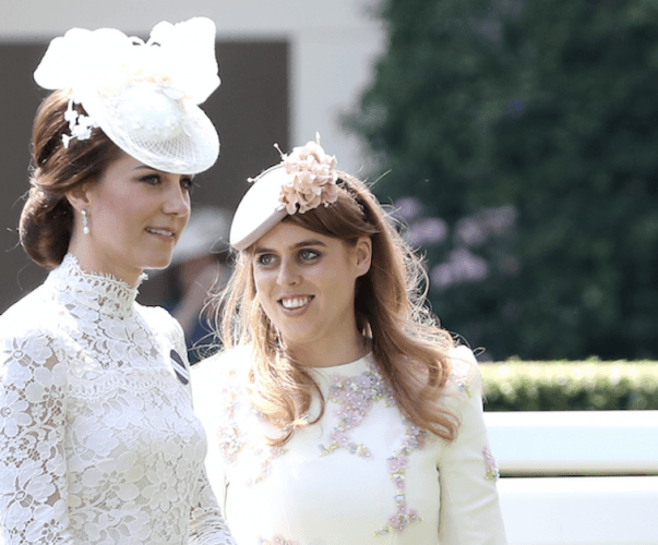 Kate Middleton and Princess Beatrice standing together at an event.