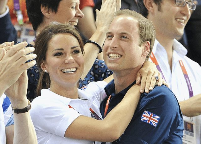 Kate Middleton smiling with Prince William.