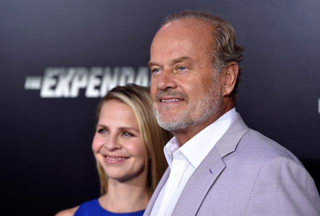 Kelsey Grammer and Kayte Walsh posing on a red carpet.