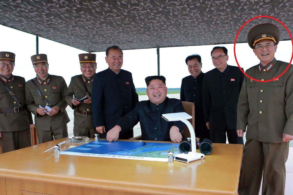 North Korean leaders with Kim Jon Un