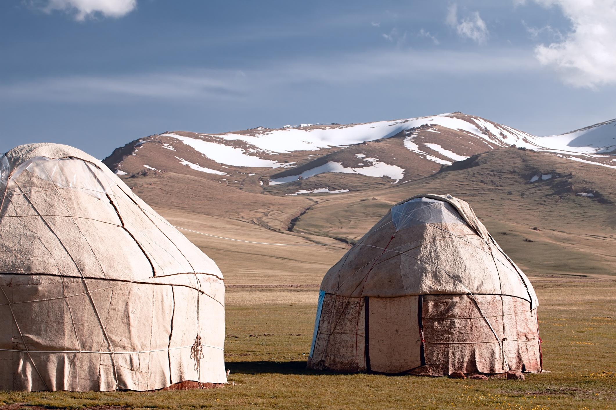 real shepherd yurt in kyrgyzstan Tien Shan mountain