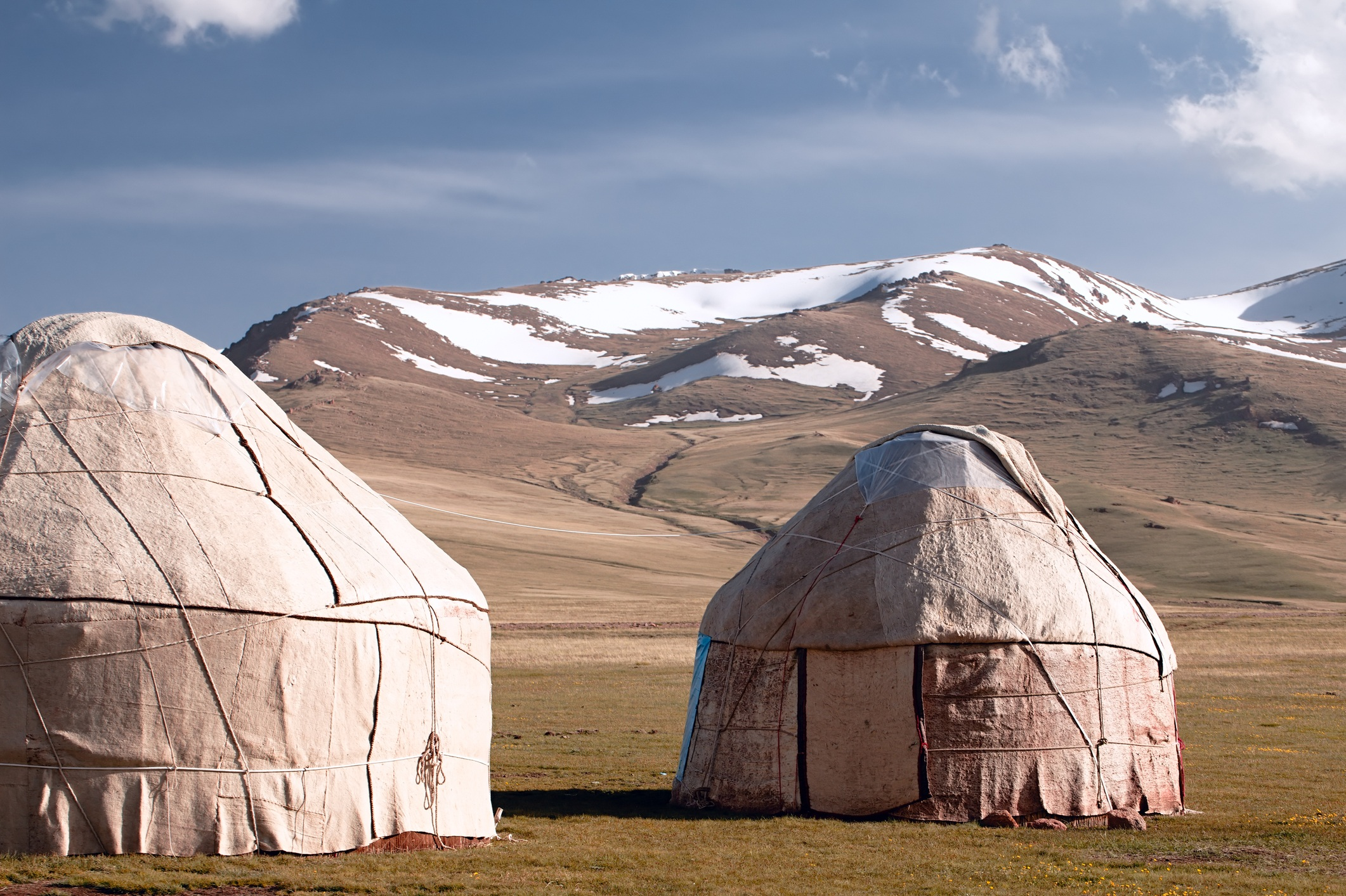 real shepherd yurt in kyrgyzstan Tien Shan mountain