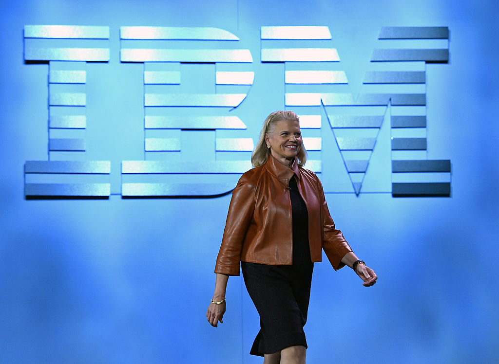 IBM Chairman, President and CEO Ginni Rometty arrives at her keynote address at CES 2016