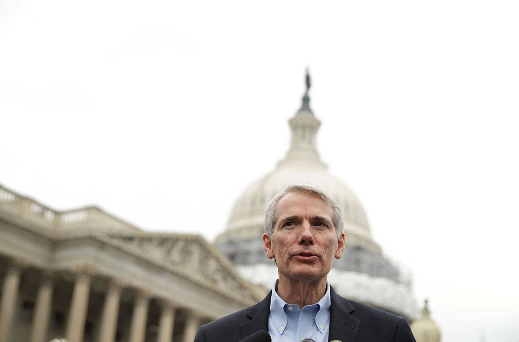 U.S. Sen. Rob Portman (R-OH) speaks during a news conference on opioid epidemicU.S. Sen. Rob Portman (R-OH) speaks during a news conference on opioid epidemic