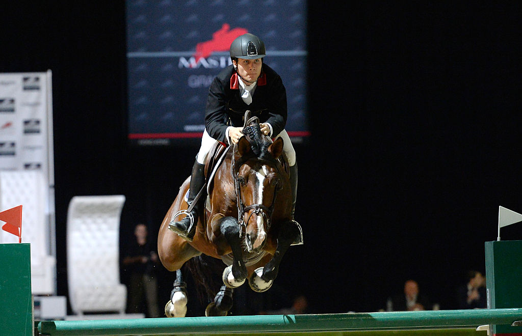 Rider Karl Cook rides Jonkheer Z during the Longines Grand Prix class