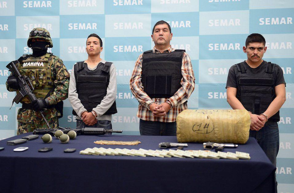 "Ivan Velazquez Caballero, aka ""Z 50"" or ""El Taliban"" (2nd-R), senior leader in the Zetas drug cartel and member of the Gulf cartel"