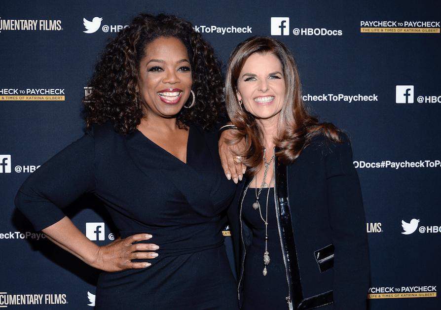 Maria Shriver and Oprah