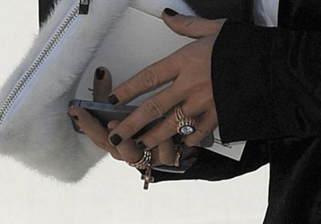 Mary-Kate Olsen's engagement ring.