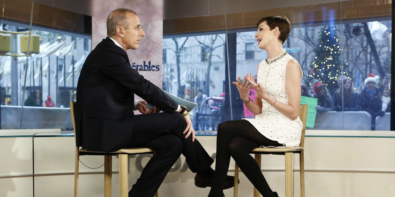 Matt Lauer Anne Hathaway