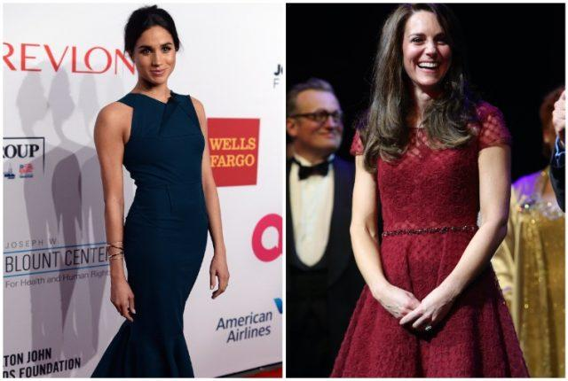 Collage featuring Meghan Markle and Kate Middleton.