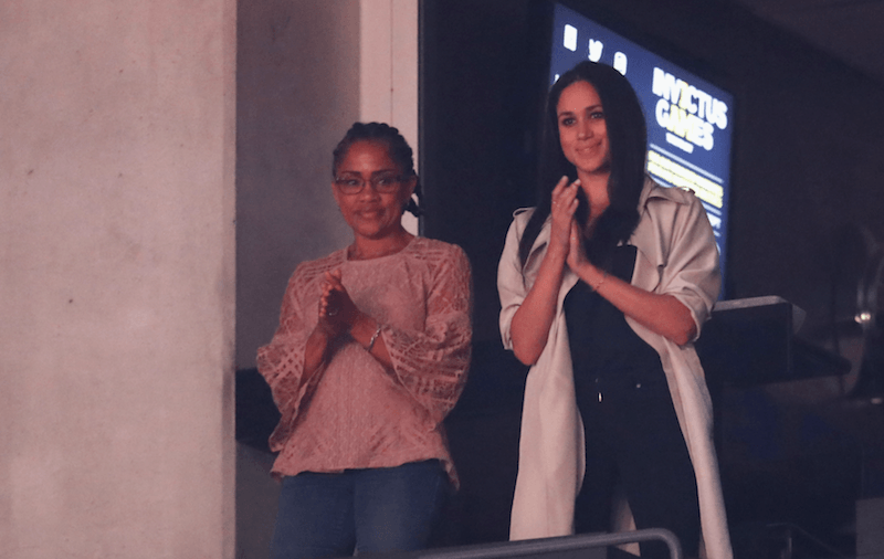Markle and her mother at the Invictus Games