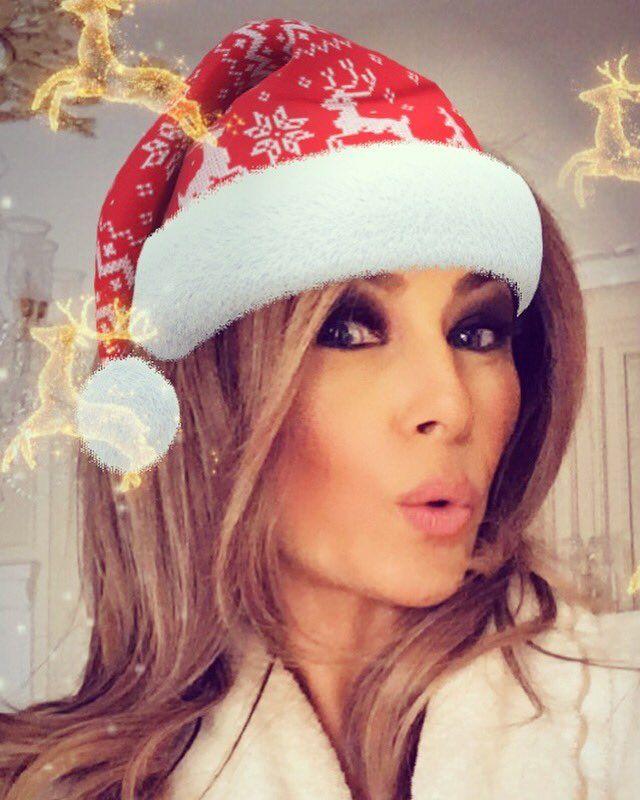 Melania Trump Christmas Selfie