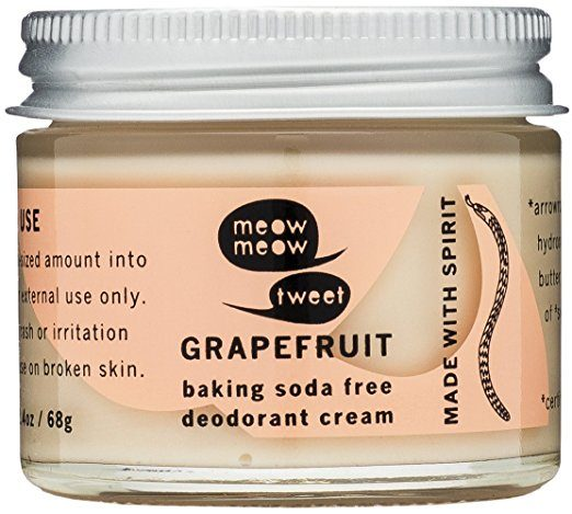 Meow Meow Tweet Baking Soda Free Grapefruit Deodorant Cream