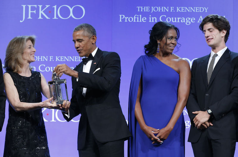 Barack Obama receives Kennedy Profile In Courage Award